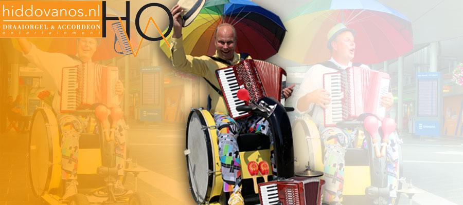 Muziek op wielen, zorgentertainment seniorenprogramma straatmuziek straattheater