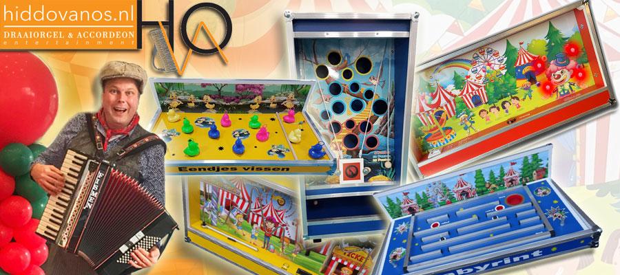 Mini Kermis huren? Mini Oud Hollandse spelen verschillende spellen huren spelverhuur